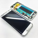 Original Samsung Galaxy S7 Edge LCD Display in silber mit...