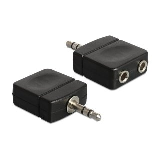 Delock Adapter Audio 3.5 mm Stereo Klinke 1x Stecker > 2x Buchse